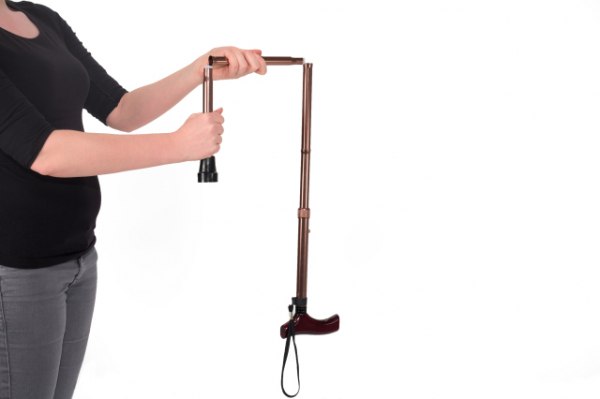 Walking cane foldable - bronze